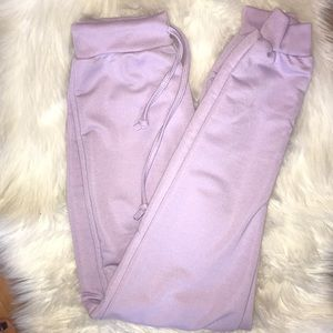 Lilac pretty little thing joggers